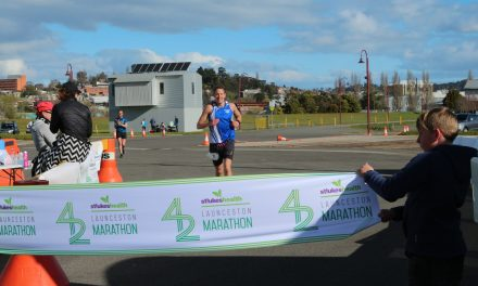 Lewinski takes the win at Launceston 100k