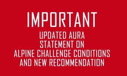 AURA STATEMENT ON ALPINE CHALLENGE CONDITIONS (UPDATED)